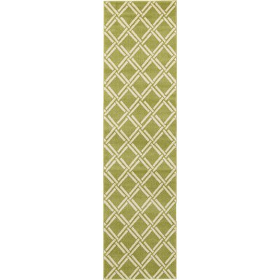 Moore Green Area Rug Rug Size: Runner 27 x 10