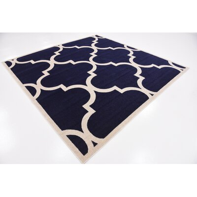 Moore Navy Blue Area Rug Rug Size: Square 8