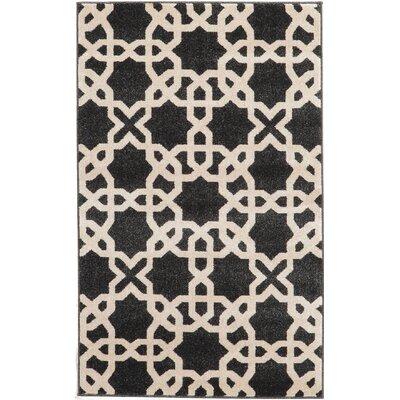 Moore Black Area Rug Rug Size: 33 x 53