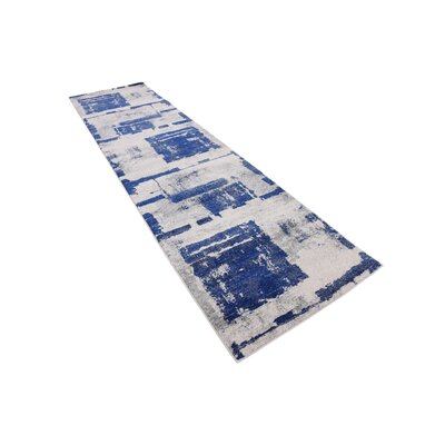 Madill Navy Blue Area Rug Rug Size: Runner 27 x 10