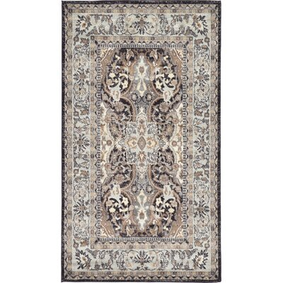 Sheppard Charcoal Area Rug Rug Size: Rectangle 4 x 6