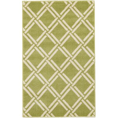 Storyvale Green Area Rug Rug Size: Rectangle 33 x 53