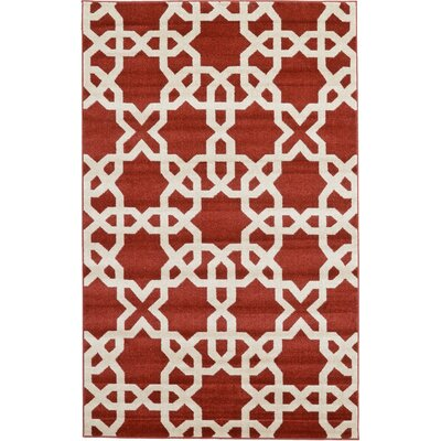 Molly Dark Terracotta Area Rug Rug Size: 5 x 8