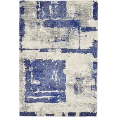 Madill Navy Blue Area Rug Rug Size: 4 x 6