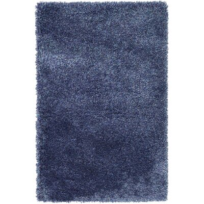 Evelyn Navy Blue Area Rug Rug Size: Rectangle 33 x 53