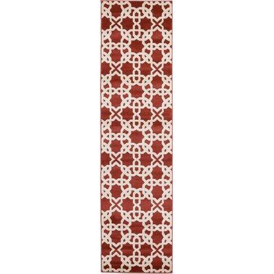 Moore Dark Terracotta Area Rug Rug Size: Runner 27 x 10