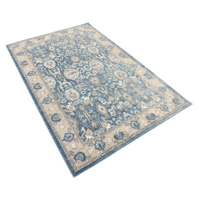 Basswood Light Blue Area Rug Rug Size: Rectangle 4 x 6
