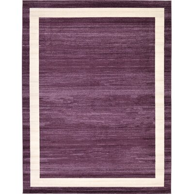 Christi Purple/Beige Area Rug Rug Size: 10 x 13
