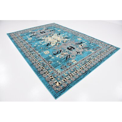 Sina Turquoise Area Rug Rug Size: Rectangle 7 x 10