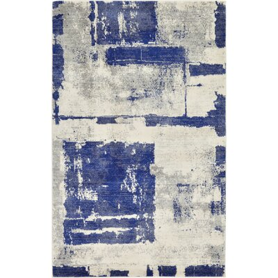 Madill Navy Blue Area Rug Rug Size: 5 x 8