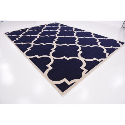 Moore Navy Blue Area Rug Rug Size: Rectangle 10 x 13