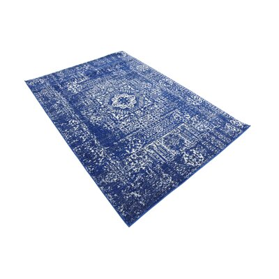 Ove Blue Area Rug Rug Size: Rectangle 4 x 6