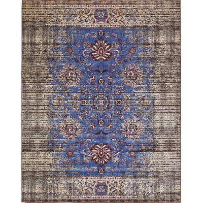 Florence Blue/Ivory Area Rug Rug Size: 8 x 10