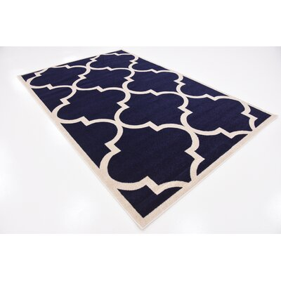 Navy Blue Area Rug Rug Size: Rectangle 6 x 9
