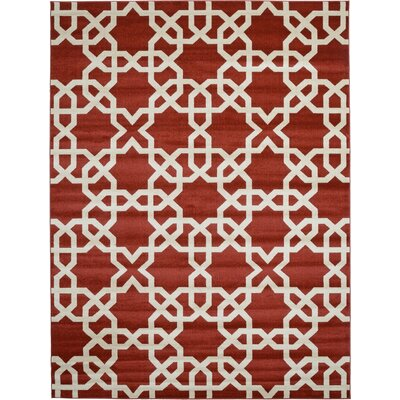 Moore Dark Terracotta Area Rug Rug Size: Rectangle 9 x 12