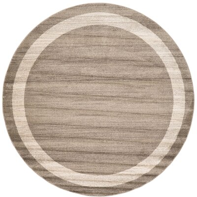 Christi Brown/Beige Area Rug Rug Size: Round 8