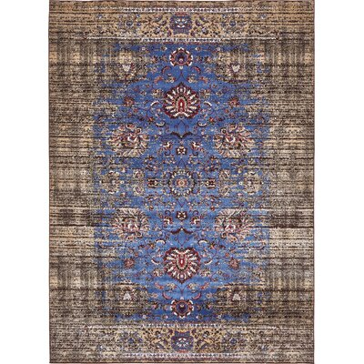Florence Blue/Ivory Area Rug Rug Size: 9 x 12