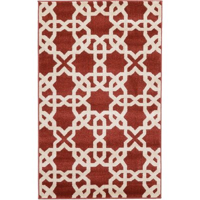 Molly Dark Terracotta Area Rug Rug Size: 33 x 53