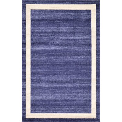 Christi Blue/Beige Area Rug Rug Size: 5 x 8