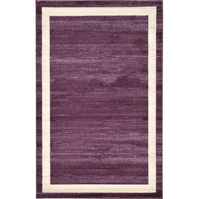 Christi Purple/Beige Area Rug Rug Size: 5 x 8