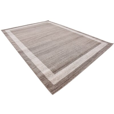 Christi Brown/Beige Area Rug Rug Size: Rectangle 8 x 114