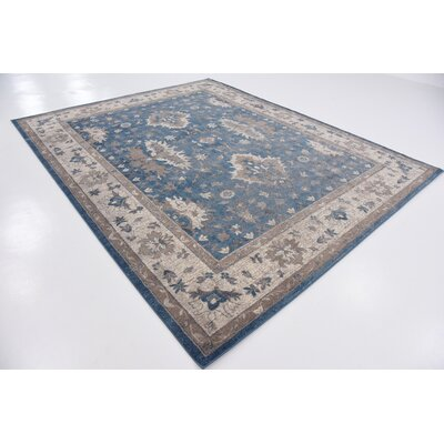Kerensa�Light Blue Area Rug Rug Size: Square 4