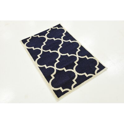Moore Navy Blue Area Rug Rug Size: Rectangle 22 x 3