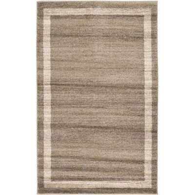 Christi Brown/Beige Area Rug Rug Size: 33 x 53
