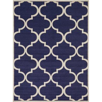 Navy Blue Area Rug Rug Size: 10 x 13