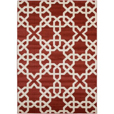 Moore Dark Terracotta Area Rug Rug Size: Rectangle 7 x 10