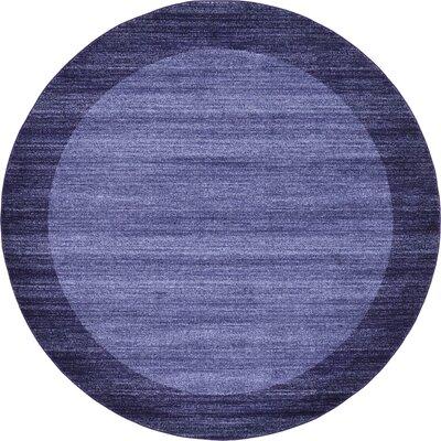 Christi Blue Area Rug Rug Size: Round 8