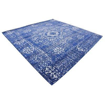 Ove Blue Area Rug Rug Size: Square 84