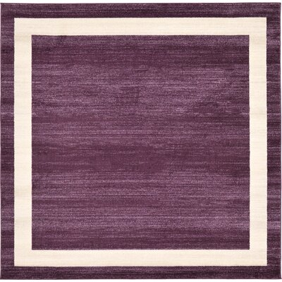 Christi Purple/Beige Area Rug Rug Size: Square 8