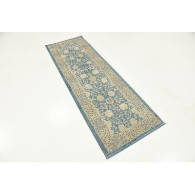 Kerensa�Light Blue Area Rug Rug Size: Runner 2 x 6