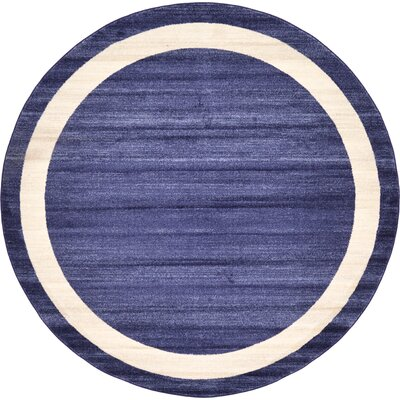 Christi Blue/Beige Area Rug Rug Size: Round 8