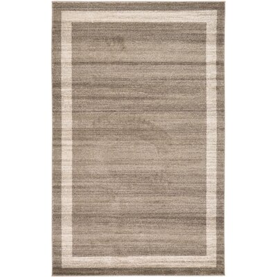 Christi Brown/Beige Area Rug Rug Size: 5 x 8
