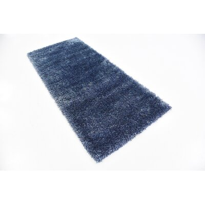 Evelyn Navy Blue Area Rug Rug Size: Runner 27 x 10