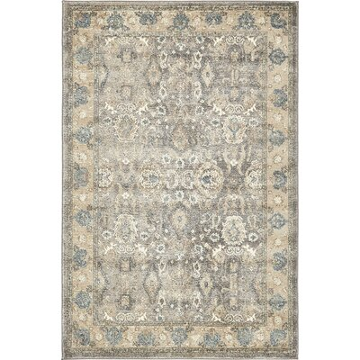 Basswood Gray Area Rug Rug Size: Rectangle 33 x 53