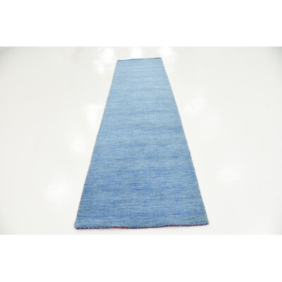 Langham Hand-Knotted Light Blue Area Rug Rug Size: Runner 3 x 10