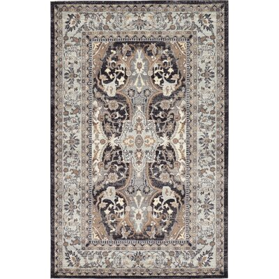 Sheppard Charcoal Area Rug Rug Size: 5 x 8