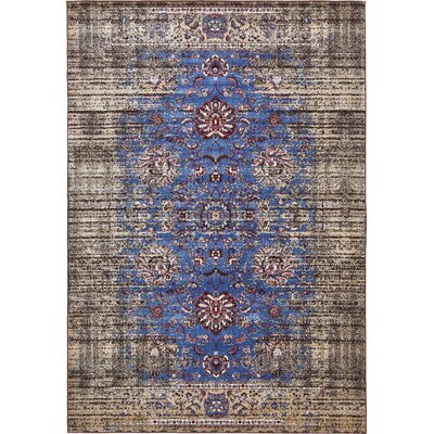 Florence Blue/Ivory Area Rug Rug Size: Rectangle 7 x 10