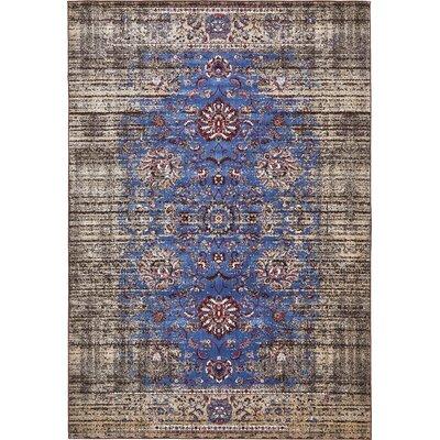 Florence Blue/Ivory Area Rug Rug Size: 7 x 10