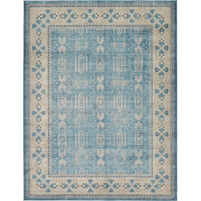 Jaiden Blue/Brown Area Rug Rug Size: 33 x 53