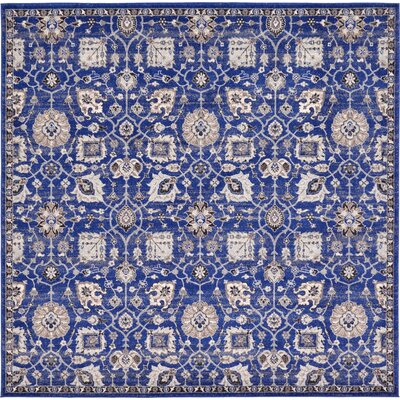 Drumsill Blue Area Rug Rug Size: Square 84 x 84