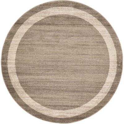Christi Brown/Beige Area Rug Rug Size: Round 6