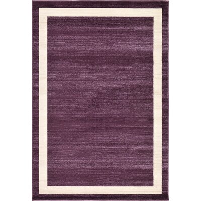Christi Purple/Beige Area Rug Rug Size: 6 x 9