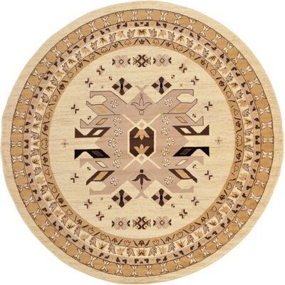 Valley Ivory Area Rug Rug Size: Round 8