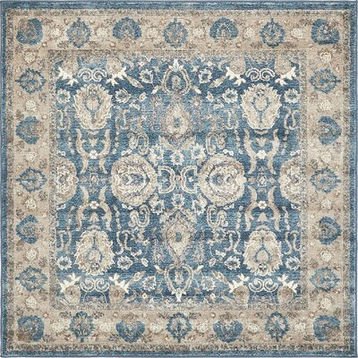 Basswood Light Blue Area Rug Rug Size: Square 5