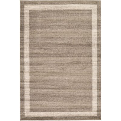 Christi Brown/Beige Area Rug Rug Size: 6 x 9