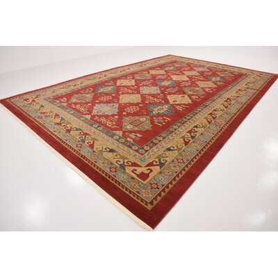 Jana Red Tibetan Area Rug Rug Size: Rectangle 106 x 165